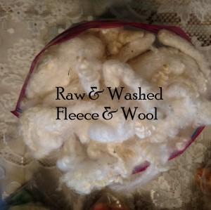Raw & washed fleece & wool
