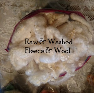 Raw & washed fleece & wool